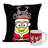 Christmas Gift With Merry Christmas Cushion With Filler And Beautifully Printed Mug, Christmas Gift For Kids,...