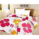 Lali Prints Big Floral Quilt Blue A.C Blanket Double Bed Size Dohar
