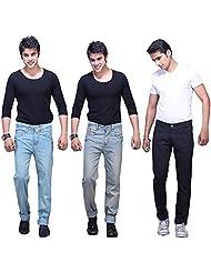 X-CROSS Men's Slim Fit Jeans Combo (Pack Of 3) - B0132WTO3G