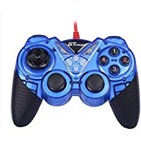 Dual Shock Wired USB Gamepad Controller For PC With Gripped Joysticks Ergonomic Design Vibration Force Feedback... - B00S879DJG
