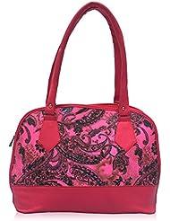 Vintage Premium Ladies Handbag Hot Pink(bag 77)
