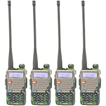 4 PCS New Camouflage BAOFENG UV-5R+ UV-5RE PLUS(Marked In China) Dual Band VHF/UHF 136-174MHz&400-520MHz Walkie...