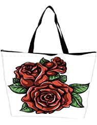 Snoogg Floral Vector Element Waterproof Bag Made Of High Strength Nylon