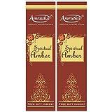 Amrutha Aromatics Spiritual Amber Incense Sticks 150G (Pack Of 2)