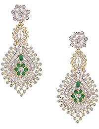 Swasti Jewels American Diamond CZ Zircon Fashion Jewellery Colourful Ethnic Earrings For Women