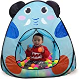 Toys Bhoomi Elephants Kids Play Tent With Basketball Hoop For Kids To Play - 100% Safe Polyester Fabric