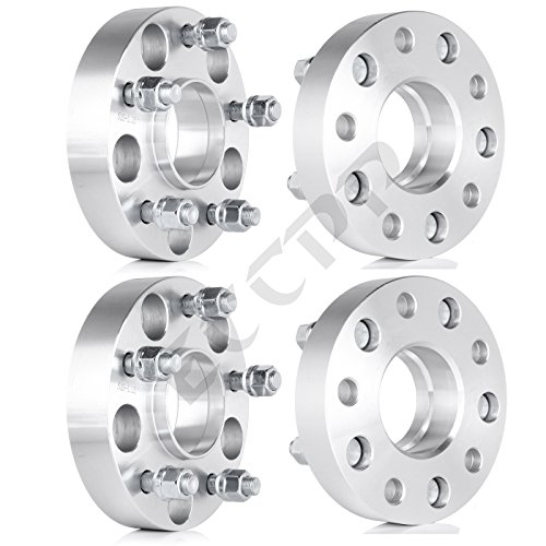 ECCPP 4PCS 1.25″(32mm) Hubcentric Lip Wheel Spacers Adapters 5×5″ to 5×5″ | for 2011 2012 2013 2014 Jeep Wrangler Rubicon Sahara Sport Jeep Grand Cherokee Laredo Limited Overland XK JK WK With Thread Pitch 1/2″