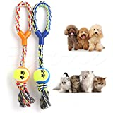 Alcoa Prime Rope Throw Ball Dog Toy Chew Puppy Play Tug Pet Exercise Braided Knot Y-Shape