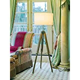 Timber Tripod Floor Lamp Stand Teak Wood Solid Lamp Stand Natural Wood Décor