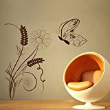 Decal Style ButterFly On A Swirl Wall Sticker Tiny Size-16*16 Inch