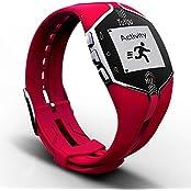 Red Wrist Activity Bluetooth Sleep Tracker Calorie Burned Watch Silent Alarm