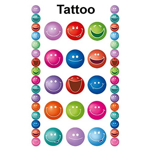 Avery Zweckform Tattoos 76X120 MM bunt 1Bg  Smiling Faces