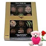 Handmade Chocolates Gift Hamper Box With Teddy And Rose - Chocholik Belgium Chocolates