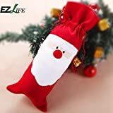 Alcoa Prime EZLIFE Red Wine Bottle Cover Bags Home Decoration Party Merry Santa Claus Christmas Xmas Deco ZH01261