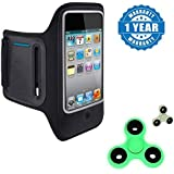 Apple IPad Mini Compatible Certified Sports Running Jogging Gym Armband Case Cover Holder With New Fidget Hand Spinner For Fun, Anti-Stress, Focus, ADHD, Anxiety & Autism(1 Year Warranty)