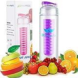 27 Oz Sport Fruit Infuser Water Bottle, BPA Free Tritan Water Bottle, Filtered Water Bottle Made With Tritan Copolyester...