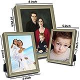Elegant Arts & Frames Set Of 3 Silver Metal Photo Frames 5 X 7 , 8 X 6 , 10 X 8