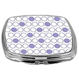 Rikki Knight Inverted Polka Dots Design Compact Mirror, Violet, 3 Ounce