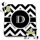 BrooklynMeme Designs - Black and white chevron monogram initial D - 10x10 Inch Puzzle (pzl_222066_2)