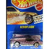 Aeroflash 1992 Hot Wheels # 191 Gleam Team Pink Chrome With Ultra Hots Wheels On Solid Blue Card