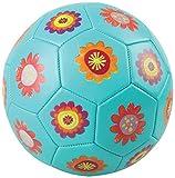 Crocodile Creek Kids Flowers Soccer Ball, Teal, 3