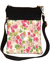 Snoogg Flower Style Cross Body Tote Bag / Shoulder Sling Carry Bag