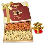 Gifts For Diwali - Super Magical Dry Fruits Gift Box With Small Ganesha Idol - Chocholik Dry Fruits