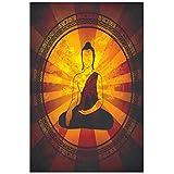 Myhome 'Buddha Round Buddha' Poster (Paper, 30 Cm X 45 Cm)