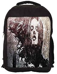 Snoogg Biker Grunge Chic Backpack Rucksack School Travel Unisex Casual Canvas Bag Bookbag Satchel