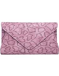Super Drool Women Casual Purple Leatherette Clutch