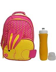 Combo RSC Rabit School Bag (Kids 4-9 Years Age) And Trueware Aqua Sipper