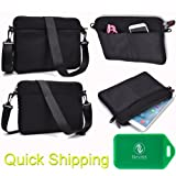 Shoulder Bag With Accessory Pocket Created Of Neoprene In Black Universal Fit For Dell Inspiron 11 3000 Series...