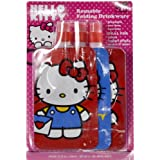 New Hello Kitty Reusable Folding Drinkware Water Bottle - Set Of 3 - Red & Blue