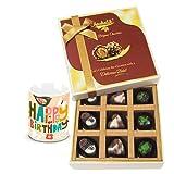 Beautiful Combination Of Assorted Chocolates With Birthday Mug - Chocholik Luxury Chocolates