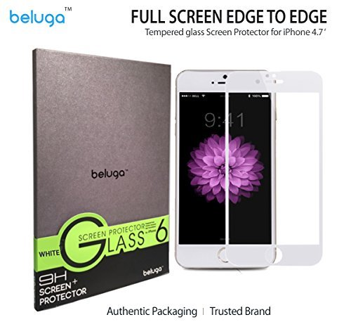 Apple IPhone 6 4.7 Inch Only *Full Screen Design* Covering Edge To Edge [White Edge Designed For Gold Or Silver...