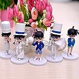 Anime Cartoon Detective Conan Figure Conan Kaitou Kiddo PVC Action Figure Toys Dolls 5pcs set