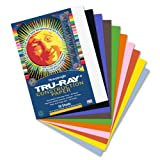 Tru-Ray Sulphite Construction Paper, 9 x 12 Inches, Assorted, 50 Sheets (103031)