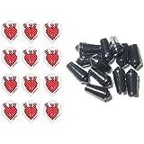 4 Sets Of Harrows Dimplex Standard Dart Flights Plus 4 Sets Of Black Nylon Dart Flight Protectors D