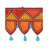 Rajrang Door Hanging Embroidered Cotton Toran With Mirror Work
