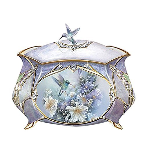 Hummingbird Porcelain Music Box