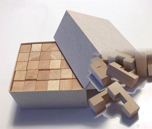 木のおもちゃ(脳トレーブロック) 国産ヒノキの積み木30ピース クリスマス 誕生日プレゼント 四国徳島県産