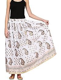 Saadgi Rajasthani Hand Block Printed Handcrafted Ethnic Lehnga Skirt For Women/Girls - B01N5PJ2WK