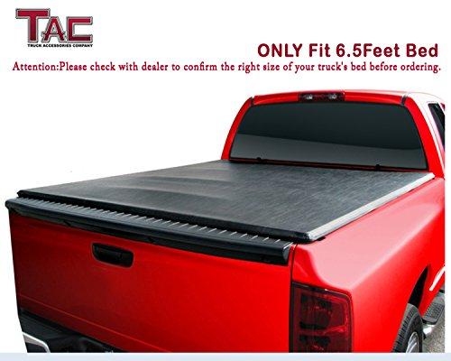 TAC 2014-2016 Chevy Silverado/GMC Sierra 1500/2500 6.5′ (78 inch) Bed Tri-Fold Cover   Tonneau Cover   Bed Cover