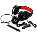 HUHD HW-399M 2.4Ghz Fiber-optical Wireless Gaming Headset For 2.4Ghz, Xbox One, Xbox 360, PS4, PS3, PC, Detachable...