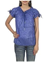 Rajrang Indian Boho Ladies Soft Cotton Draw String Top Summer Size M