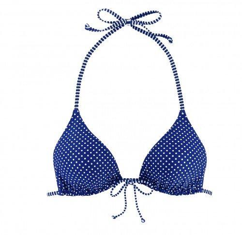Venice Beach para mujer Mix-kini tirante milla triangle bikini colour azul marino de lunares navy-dots Talla:42 c/d