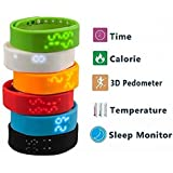 IStyle Smart LED Watch Smart Bracelet Sports Wristband Tracker Pedometer Sleep Steps Calory Temperature Monitor... - B00V6929EO