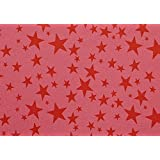 BDPP RED PRINT ON ROYAL PINK BASE THICK PREMIUM WRAPPING PAPERS (PACK OF 10) WITH FREE 10 GIFT NAME TAGS WORTH...