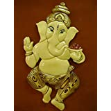"Ravi Gifts - Wooden Wall Hangings - Dancing Ganesha 12""x20"""