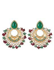 Amethyst By Rahul Popli Multi-Colour Silver Stud Earrings - B00OYSBREW